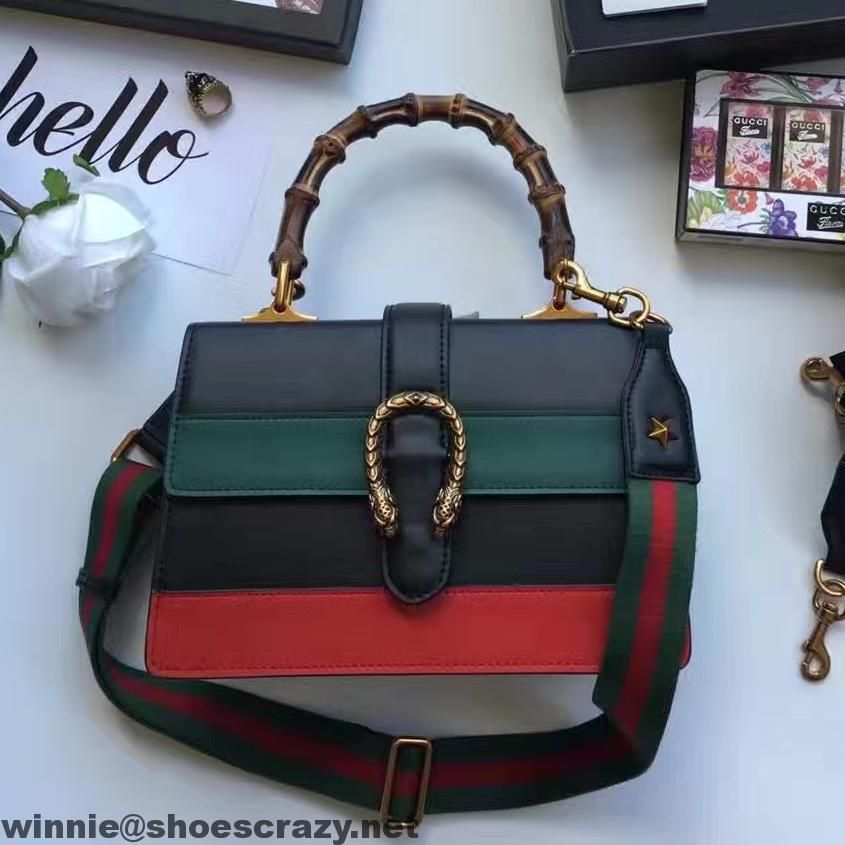Gucci Dionysus Leather Bamboo Top Handle Bag 448075 2016 ...