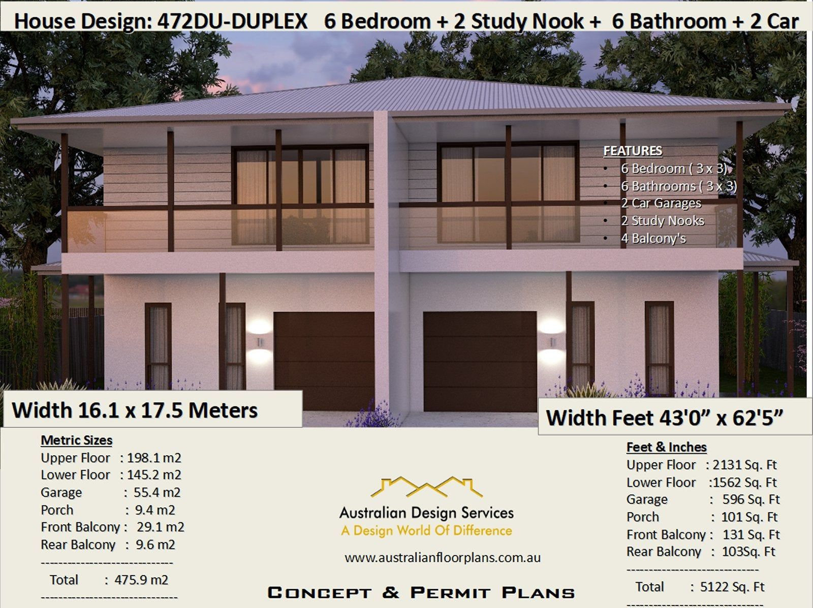 475 M2 Or 5122 Sq Foot 6 Bedrooms Townhouse Design 6 Etsy Townhouse Designs Duplex Plans Duplex Design