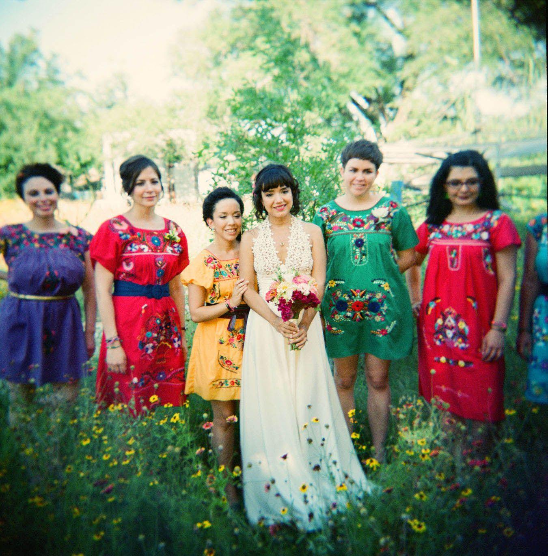 A Bohemian Mexican American Wedding Felicia Ariel Bright Colors