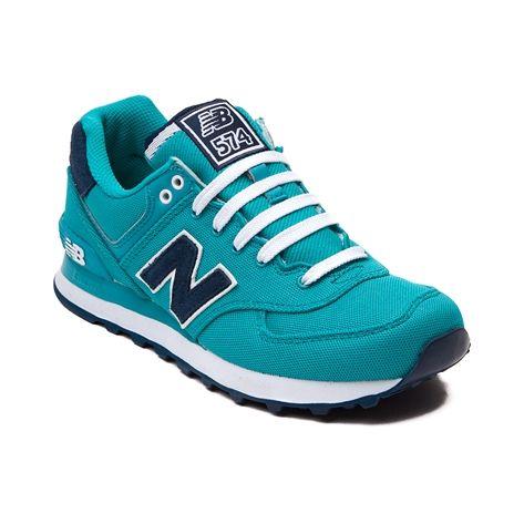 Womens New Balance 574 Athletic Shoe, Turquoise | Journeys Shoes ...