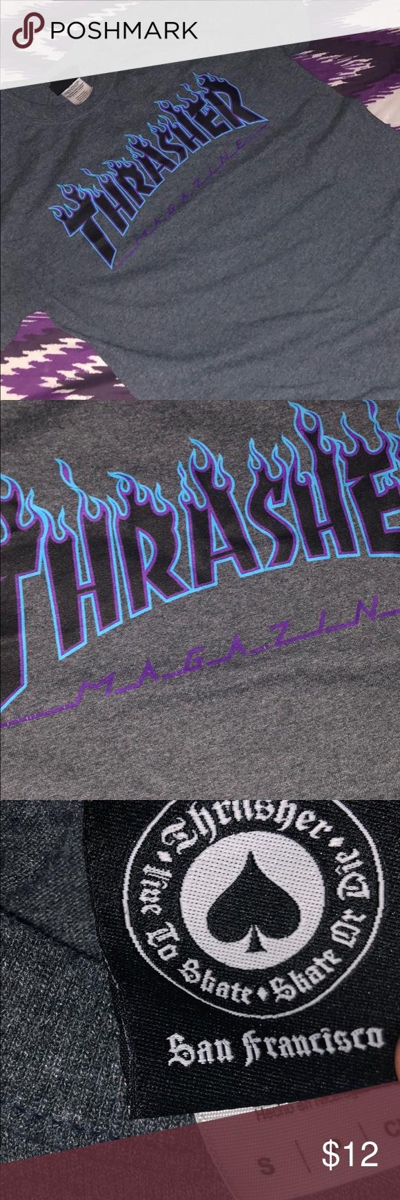 ed3b37ef6d32 Thrasher Flame Logo T-Shirt black