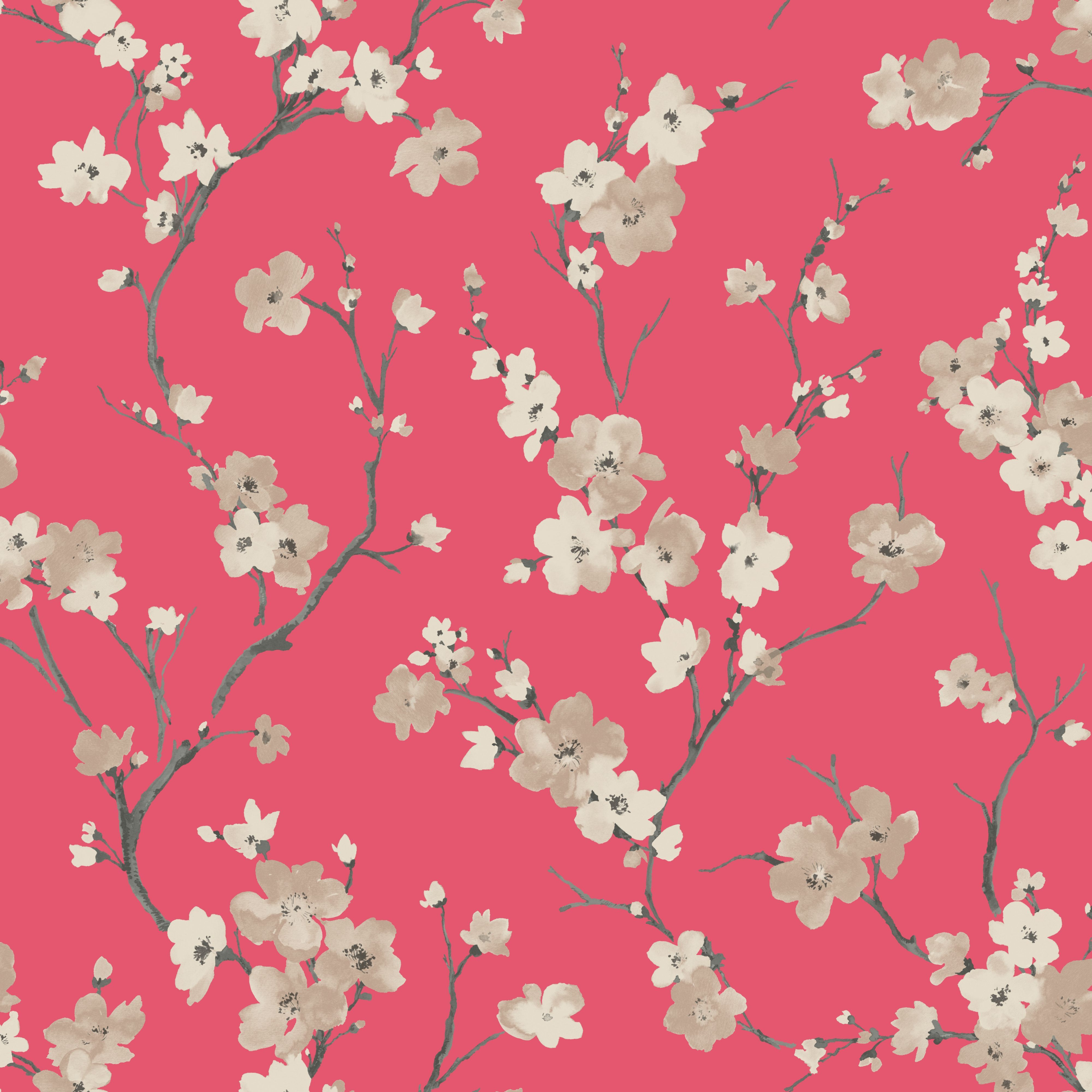 Red Wallpaper Designs For Living Room Blossom Soft Red Wallpaper Departments Diy At Bq Wallpaper