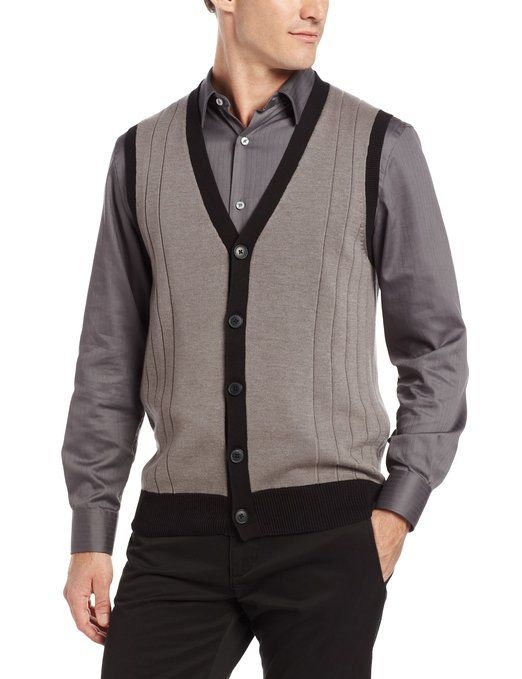 John Henry Mens Button Front Sweater Vest At Amazon Mens Clothing