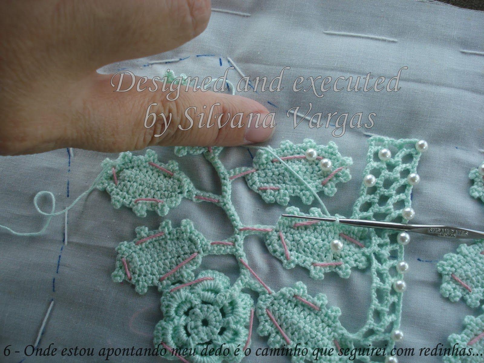 Crochet y Bebê: PAP das costas do top do vestido em crochet irlandês! Irish Crochet back top dress tutorial!
