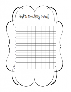Math Goal chart to keep in their notebooks and track their