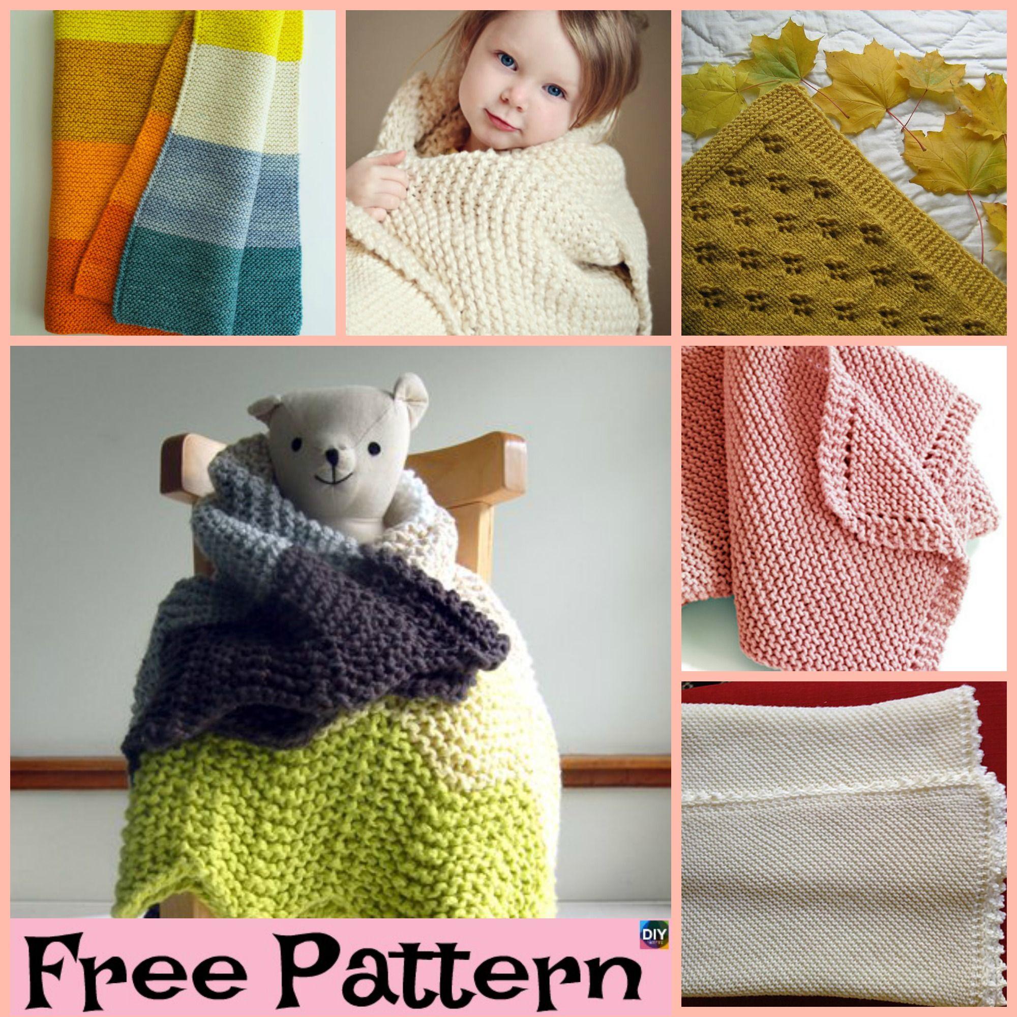 Easiest Knit Baby Blanket Free Patterns Crochet Pinterest