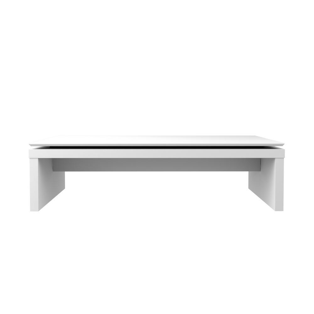 Admirable Manhattan Comfort Lincoln White Gloss And Maple Cream Uwap Interior Chair Design Uwaporg