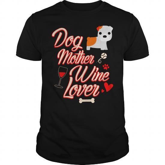Bulldog Dog Mother Wine Lover T-Shirt Black Women