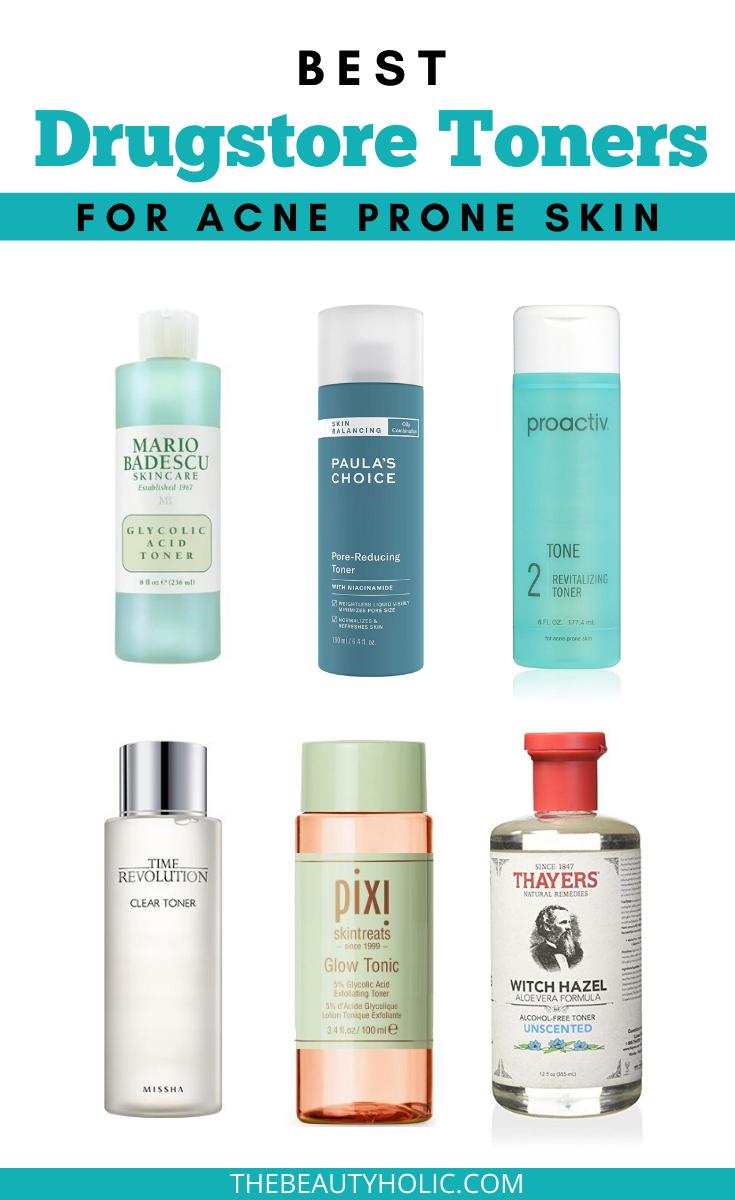 The Best Pharmacy Toners For Acne Prone Skin Acneprone Bestskincare Cliniqueskincare Dru Best Drugstore Toner Skin Care Toner Products Best Toner For Acne