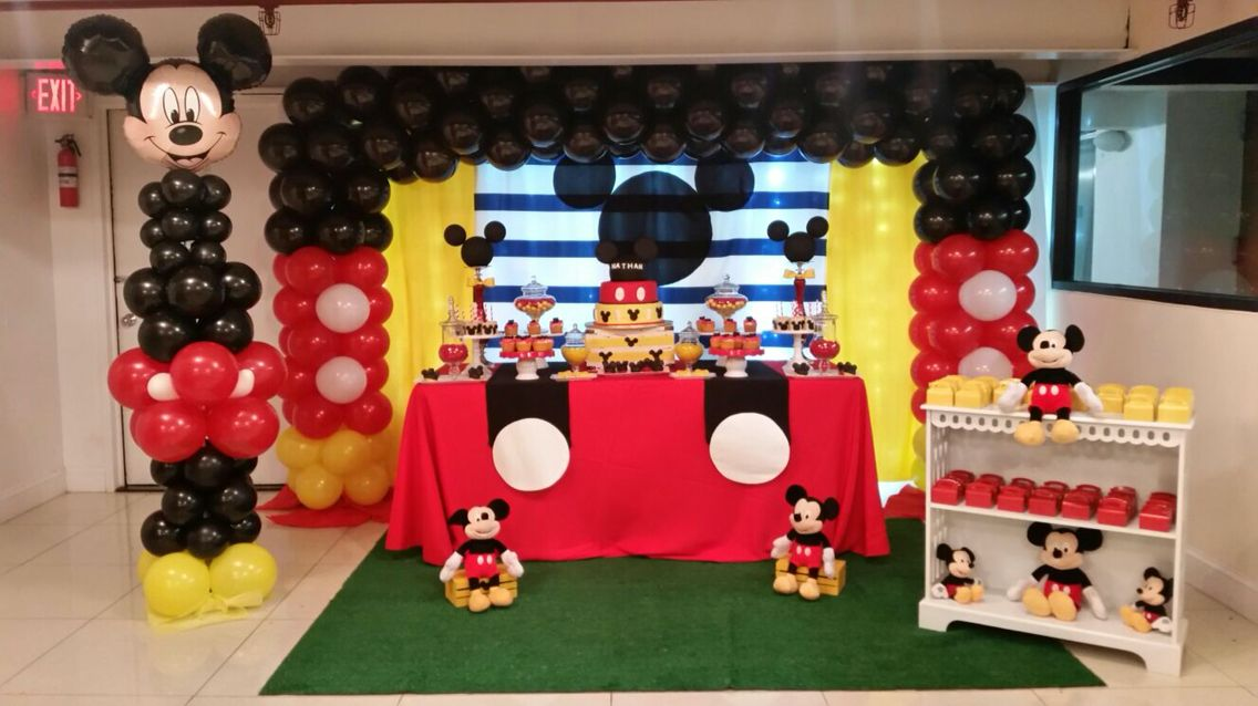 Nathan S Mickey Mouse 1st Birthday Decoration In 2019