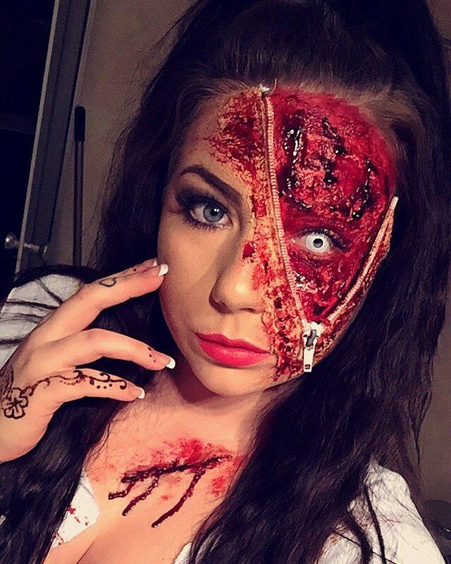 dragkedja smink halloween