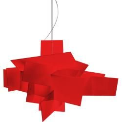 Foscarini Big Bang L Led Pendelleuchte, rot, mit Sonderlänge max. 10 m FoscariniFoscarini