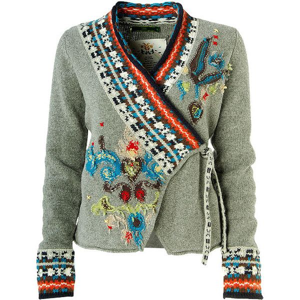 bf855070a0d77 good way to cut an old grey sweater and combine it with the rib trim of a  pretty norwegian style one. cardigan jacquard knit ...