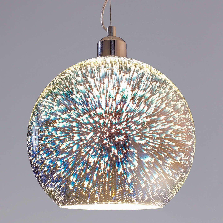 John Lewis & Partners Oberon Holographic Pendant Ceiling