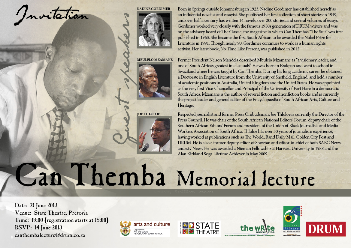 Can Themba Memorial Lecture Invite