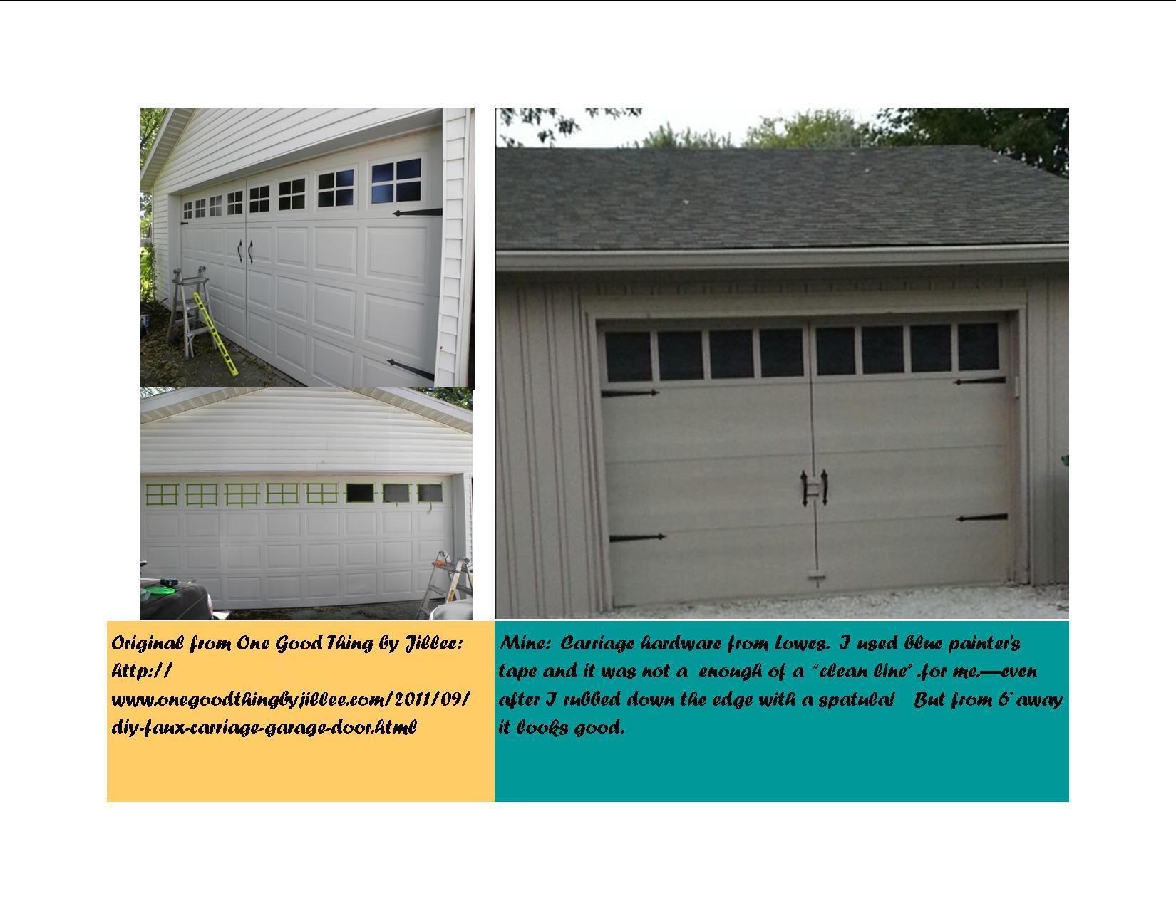 DIY: Faux Carriage Doors