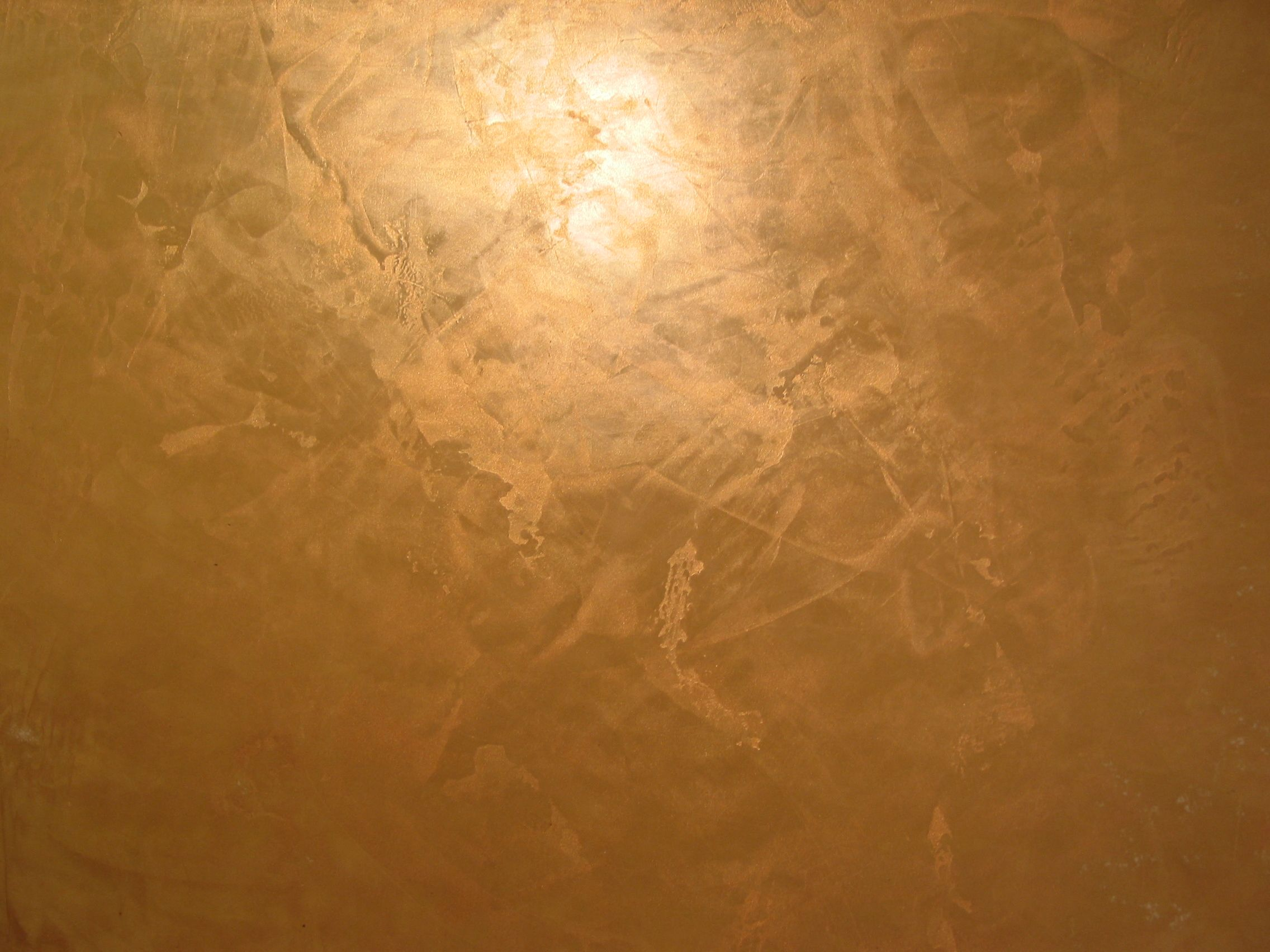 Venetian Plaster Wall With Gold Topcoat Venetian Plaster