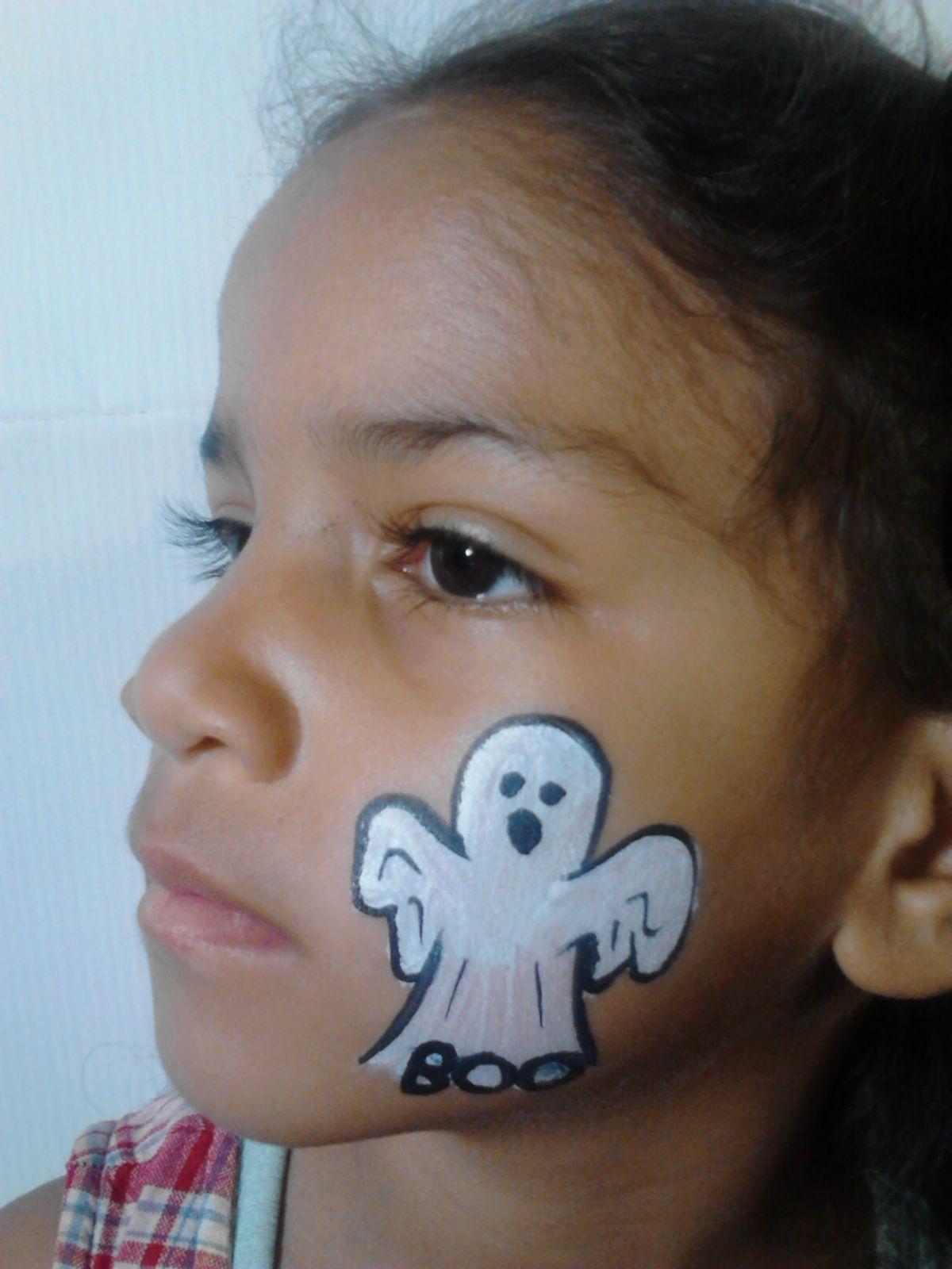 a little ghost, cheek art | cheek art | pinterest | halloween face