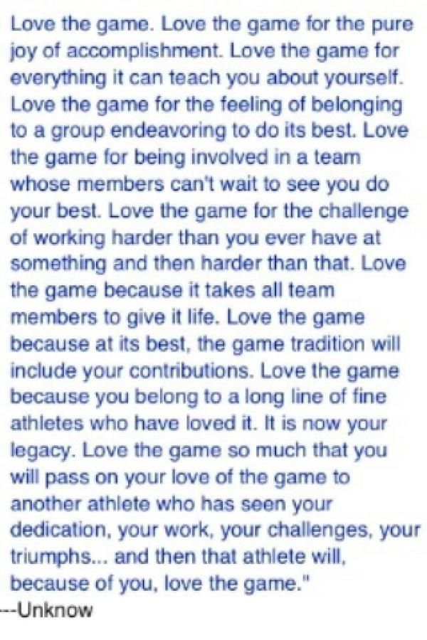 Love The Game Quotes Volleyball Football Soccer Quotes