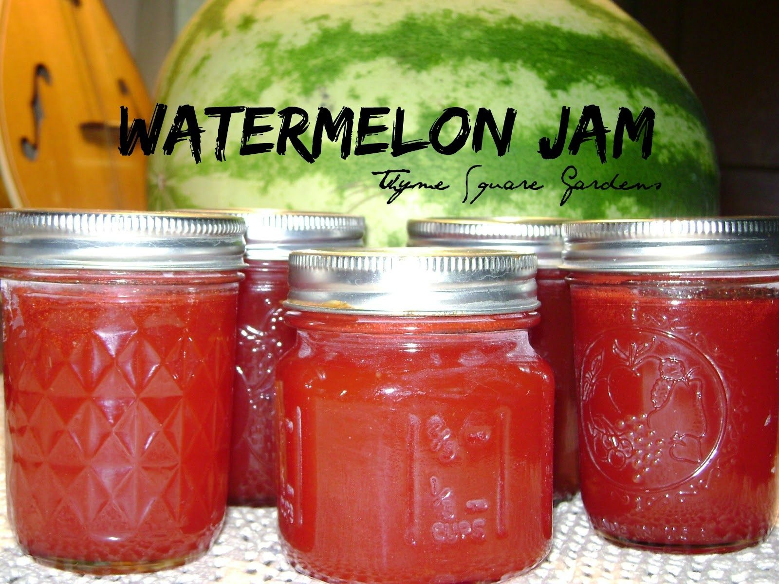 Watermelon Jam My goodness this is so Good!! I'd been searching for  ways to save and preserve for quite awh… | Watermelon jam, Canning recipes,  Canning jam