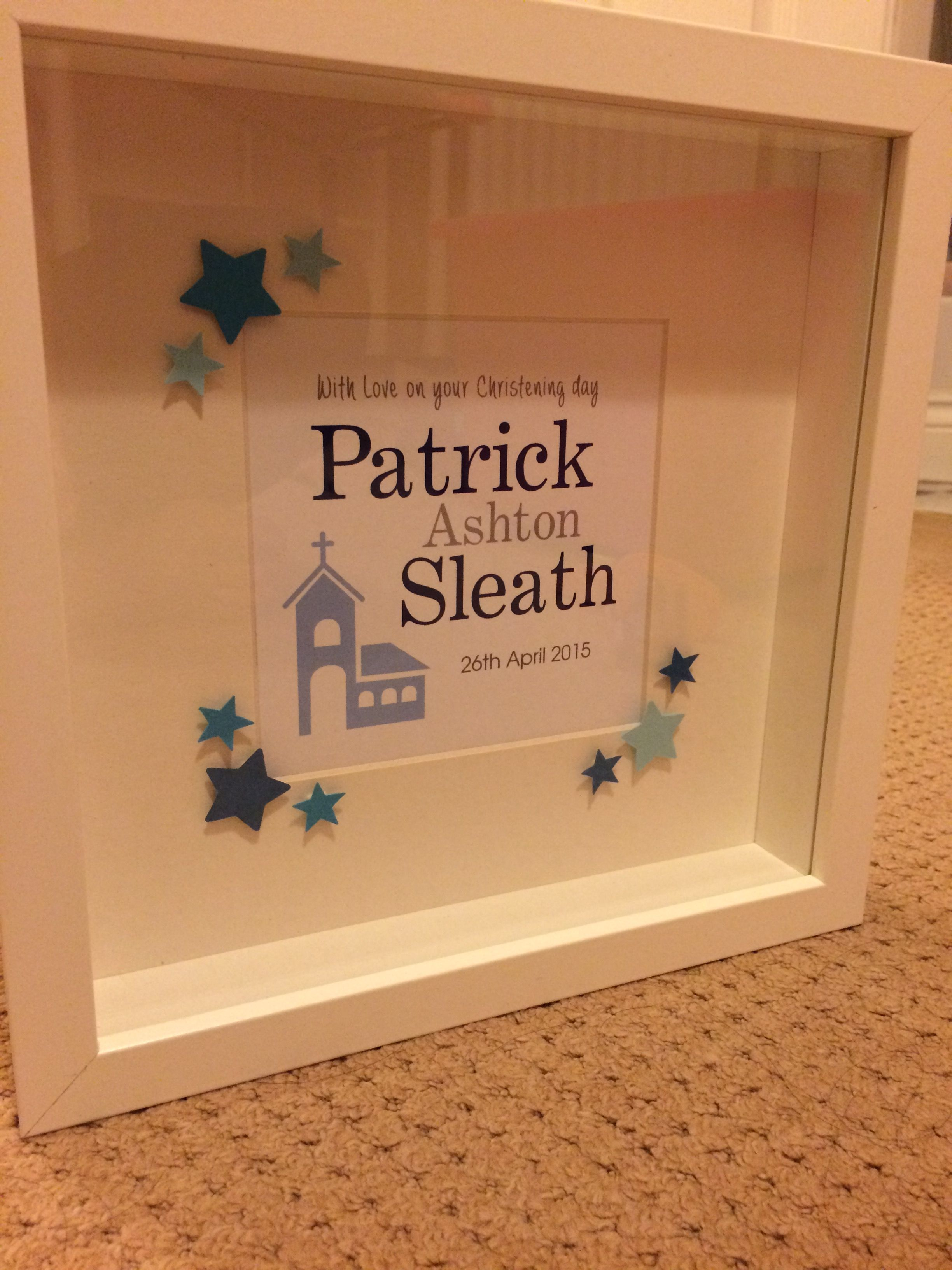 Handmade personalised frames made to order. Pick from Boy/ Girl ...