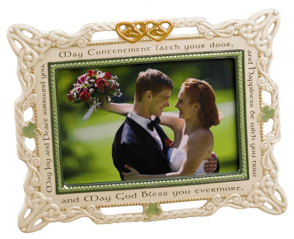 Ceramic Wedding Photo Frame Irish Home Garden Picture Frames
