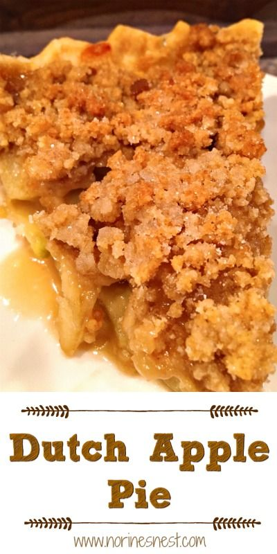 Dutch Apple Pie | Norine's Nest