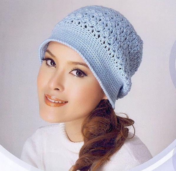 Patrón #1163: Gorro a Crochet   CTejidas [Crochet y Dos Agujas ...