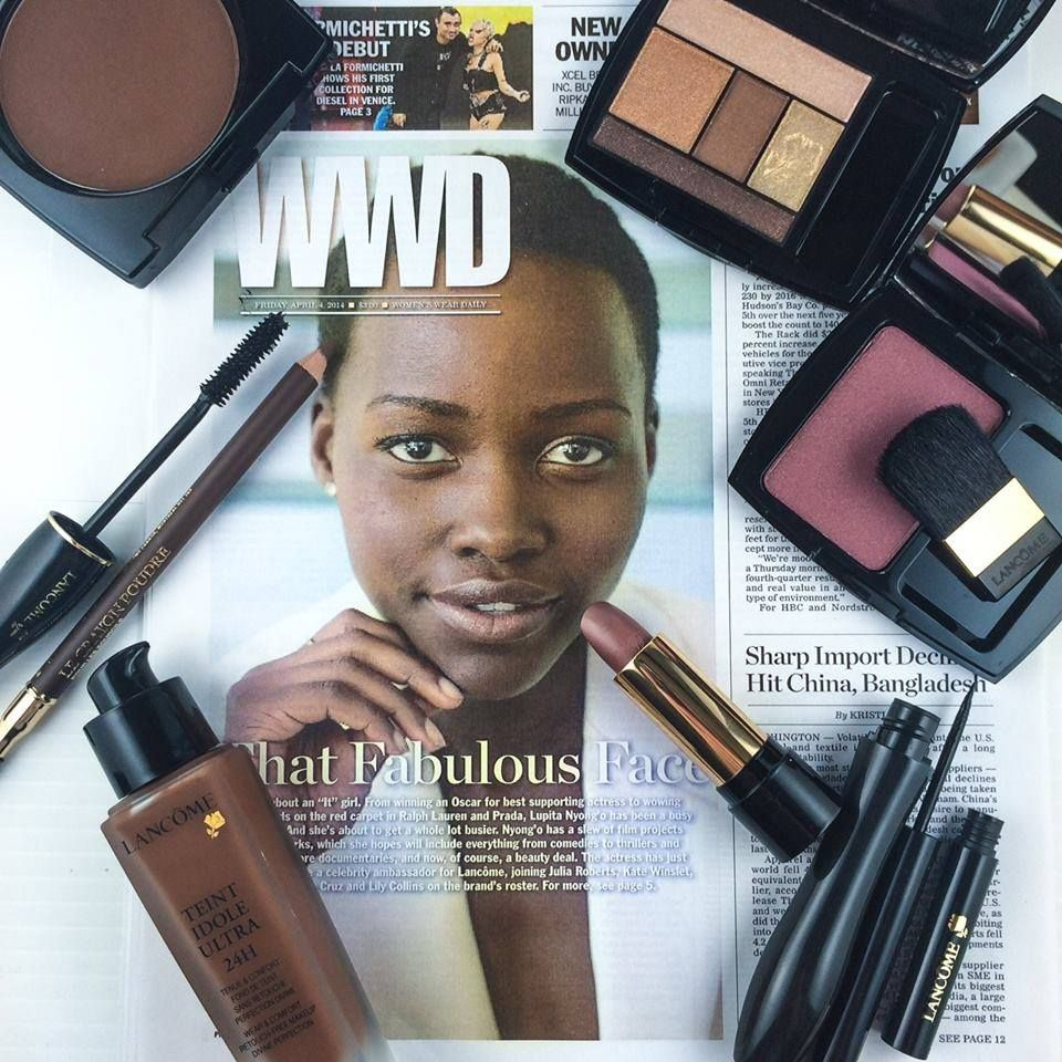 The Lancôme products used for Lupita's WWD Photo shoot. I