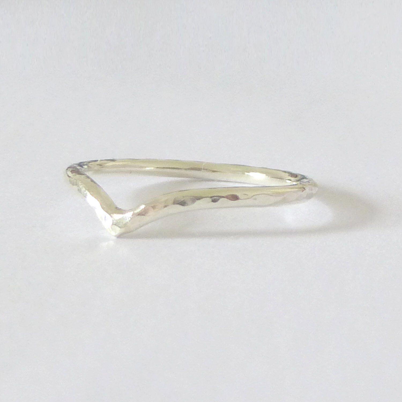 9ct Gold Wedding Ring Holly Wishbone 1.5mm Slim