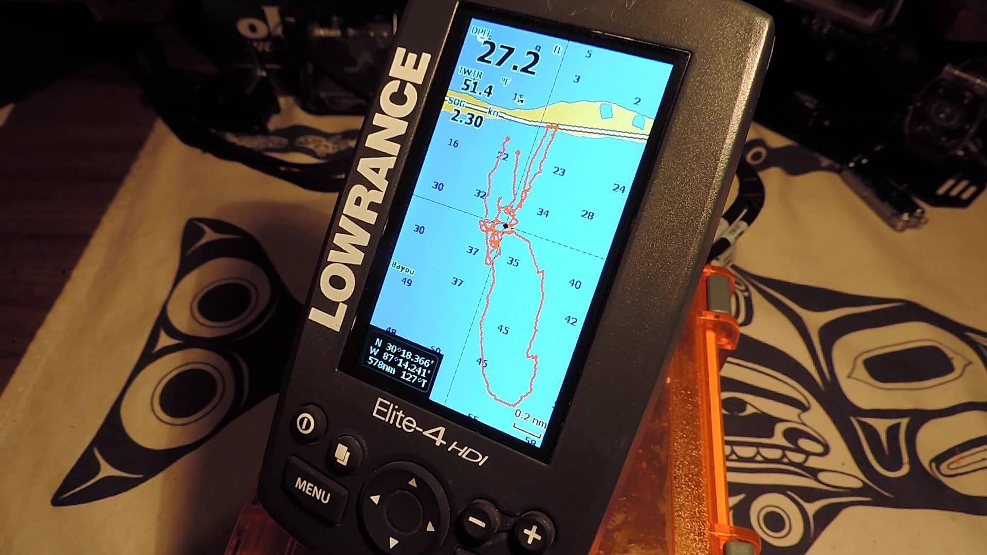 Lowrance Elite 4 HDI GPS Tips Gps units, Fish finder