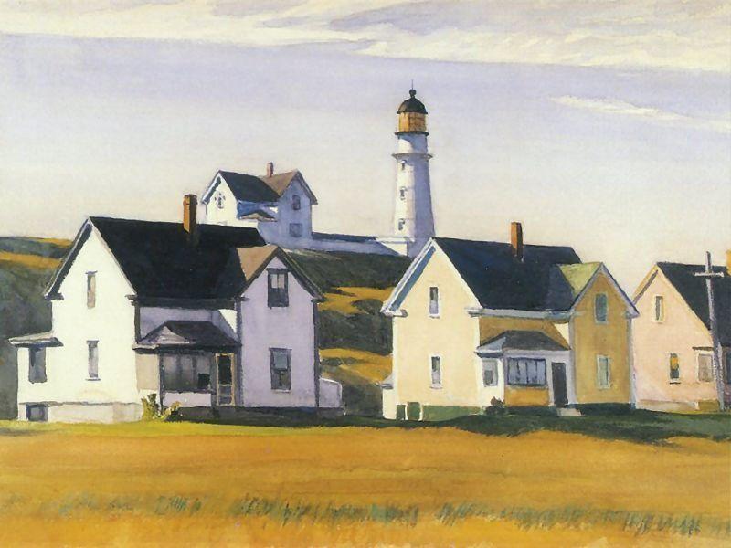 Lighthouse Village by Edward Hopper