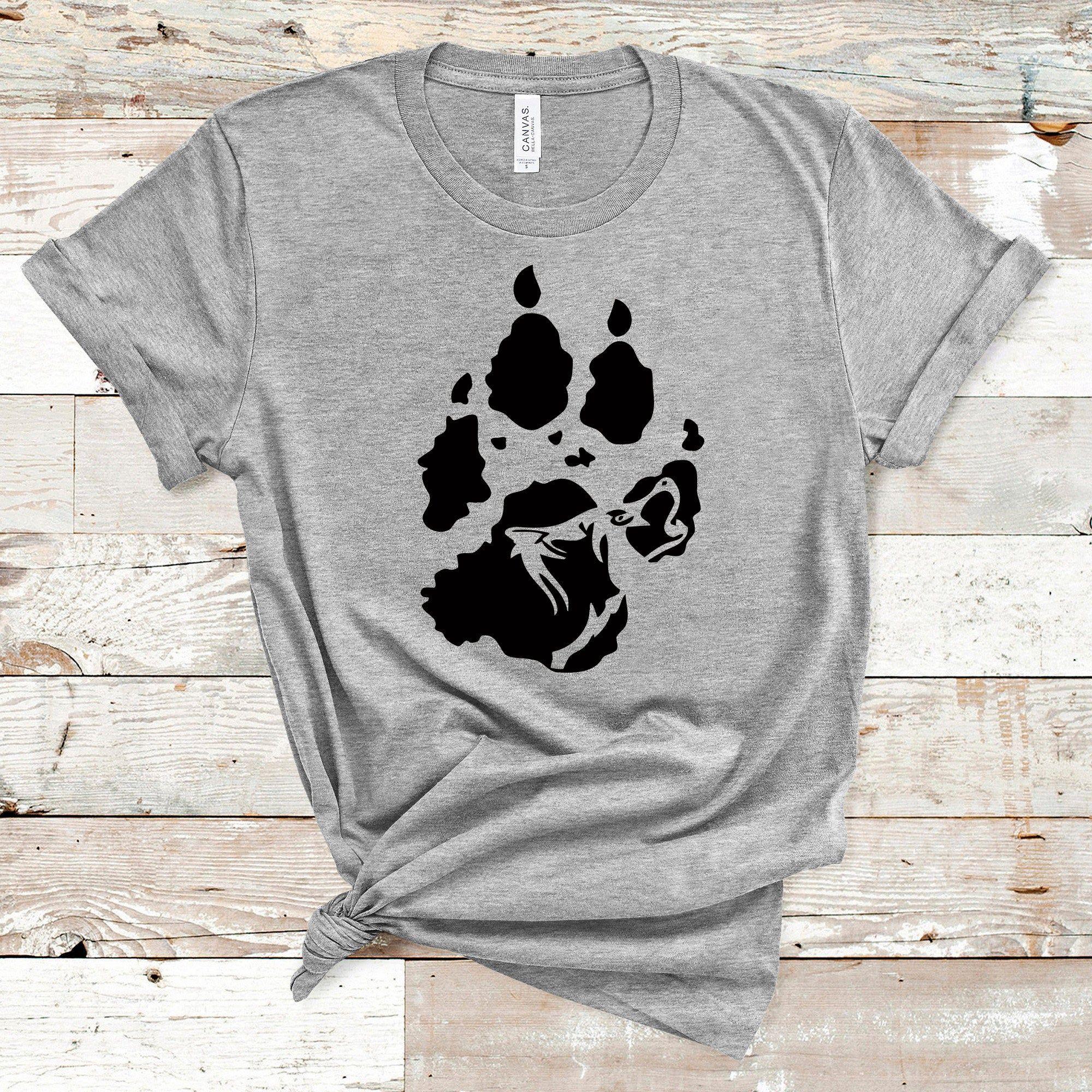 Wolf Svg Wolf Paw Print Svg Wolf Shirt Svg Animal Svg File Etsy Wolf Paw Print Wolf Paw Wolf Shirt