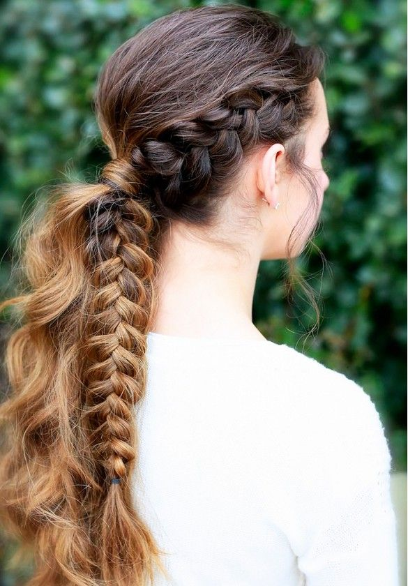 Braid within a ponytail