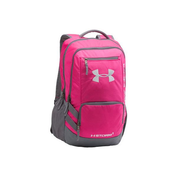 under armour hustle backpack pink