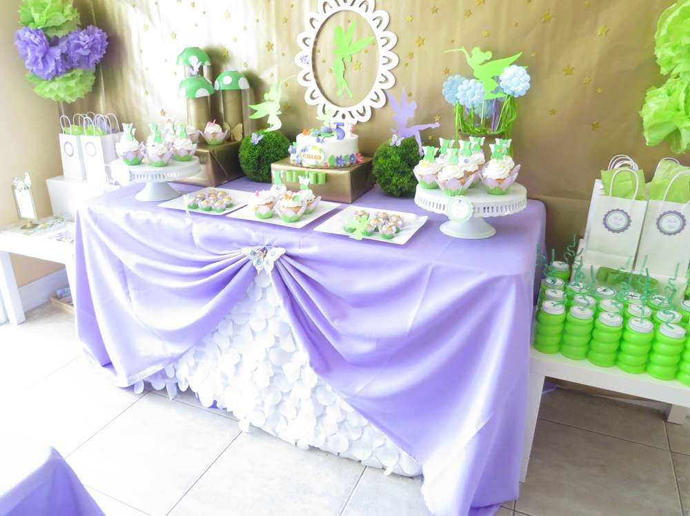 Tinkerbell Fairy Birthday Party Ideas | Photo 1 of 35 ...