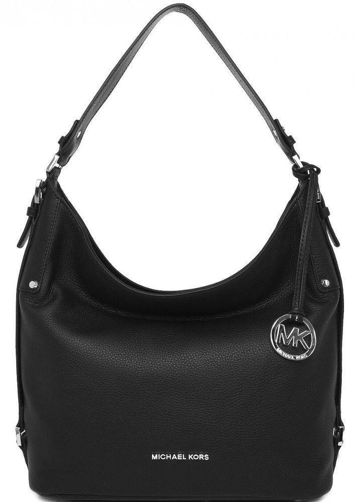 0e485f687d649b $298 Michael Kors Women's Bedford Belted Large Shoulder Bag Black | eBay