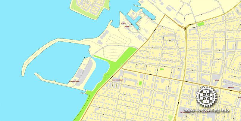 PDF Map Malmo Malm Sweden printable vector street map exact