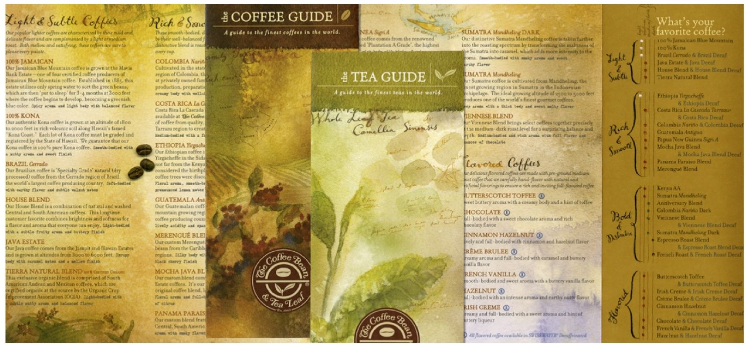 18 On The Same Visit I Picked Up Some Of Their Brochures And Read About The Variety Of Teas And Coffees They Offered W Tea Leaves Coffee Guide Coffee Beans