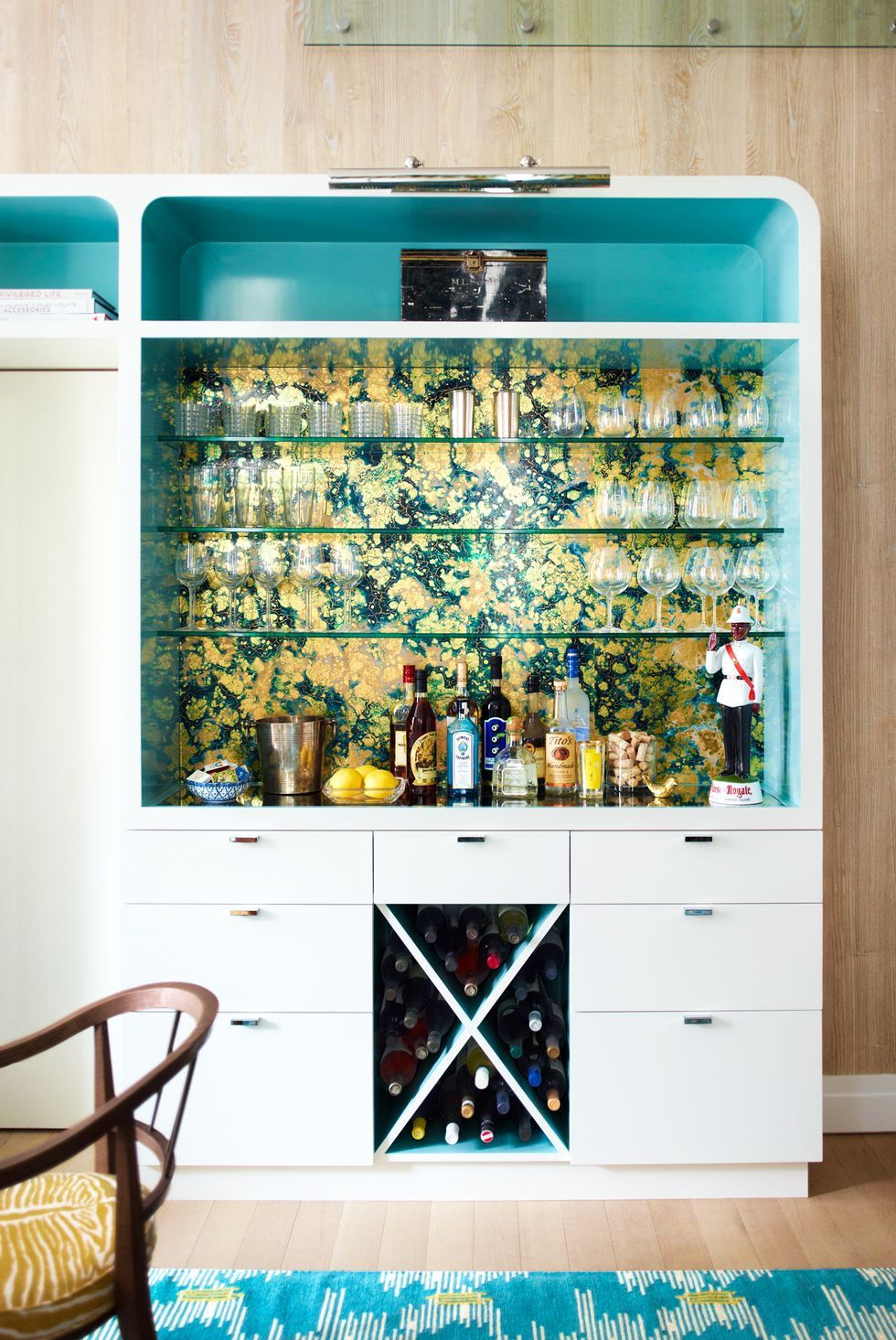 13 Creative Ways To Use Peel And Stick Wallpaper Home Remodeling Decor Bars For Home