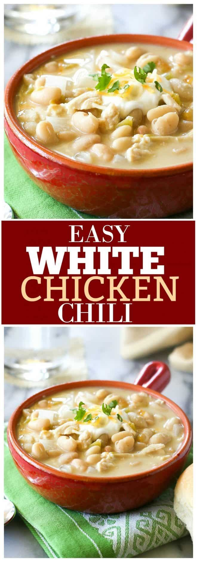 White Chicken Chili Recipe - The Girl Who Ate Everything