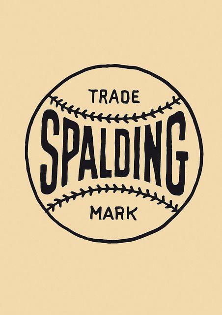 spalding logo, vintage, old by karlheinsport, via Flickr