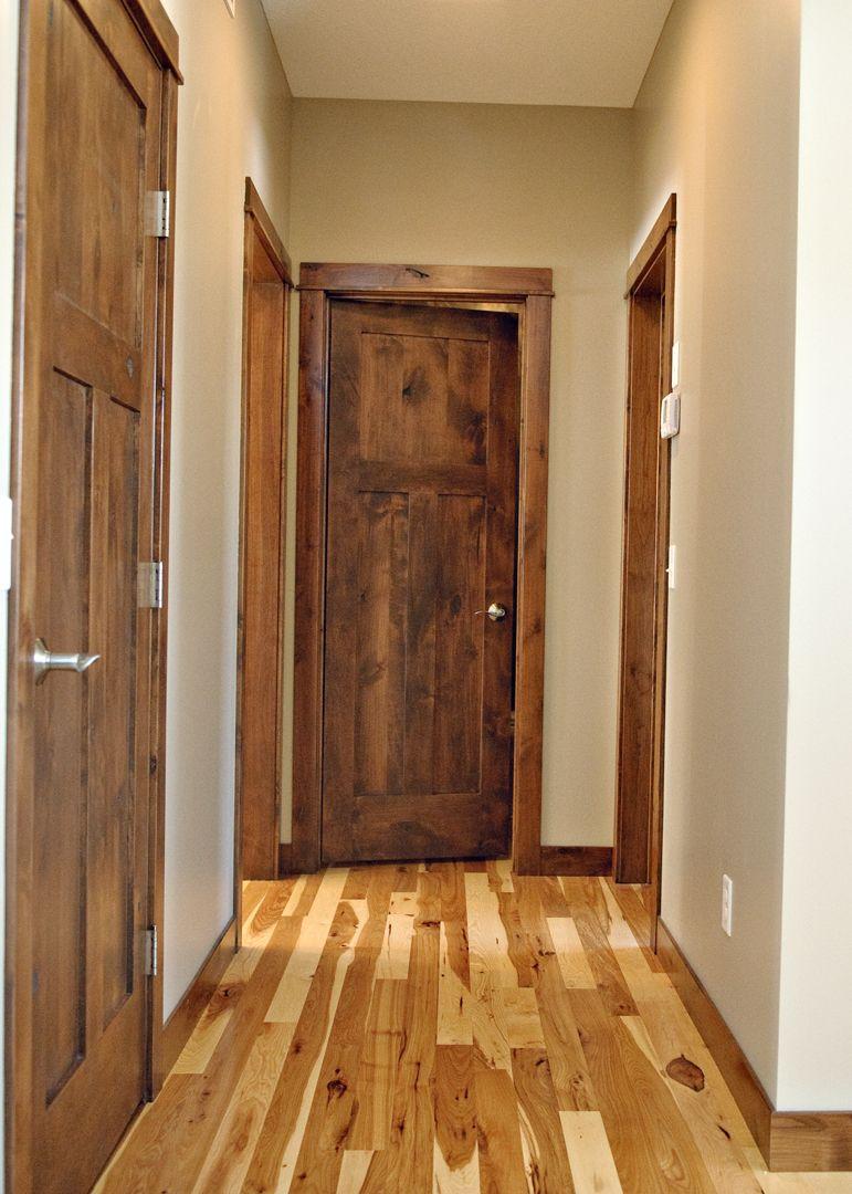 Basement Trim Carpentry - KC Wood |Knotty Alder Door Trim