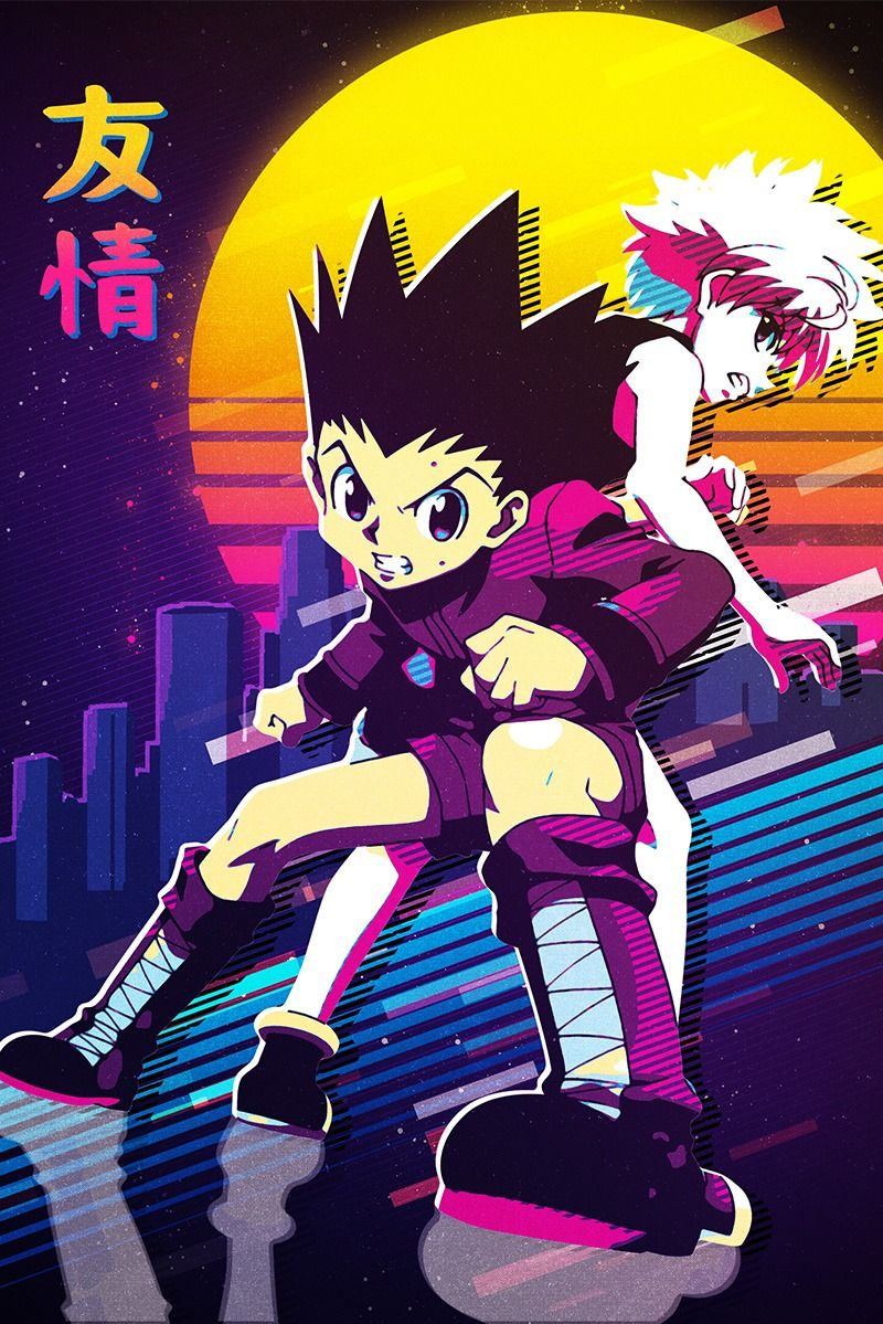 displate hunter anime anime wall art