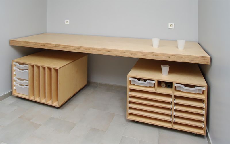 6x Plywood Kinderkamers : I need to make sliding flat files for my studio. having a giant