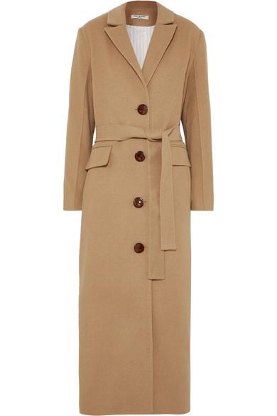 Materiel Mantel Aus Filz Mit Gurtel Net A Porter Com Clothes Coat Fashion