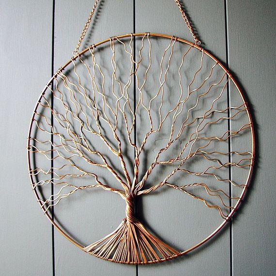 Copper Wire Tree Wall Decor - WIRE Center •