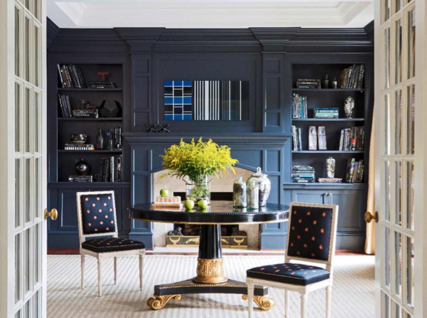 Painted Built Ins Amp Molding Via Tradhome Painted Built