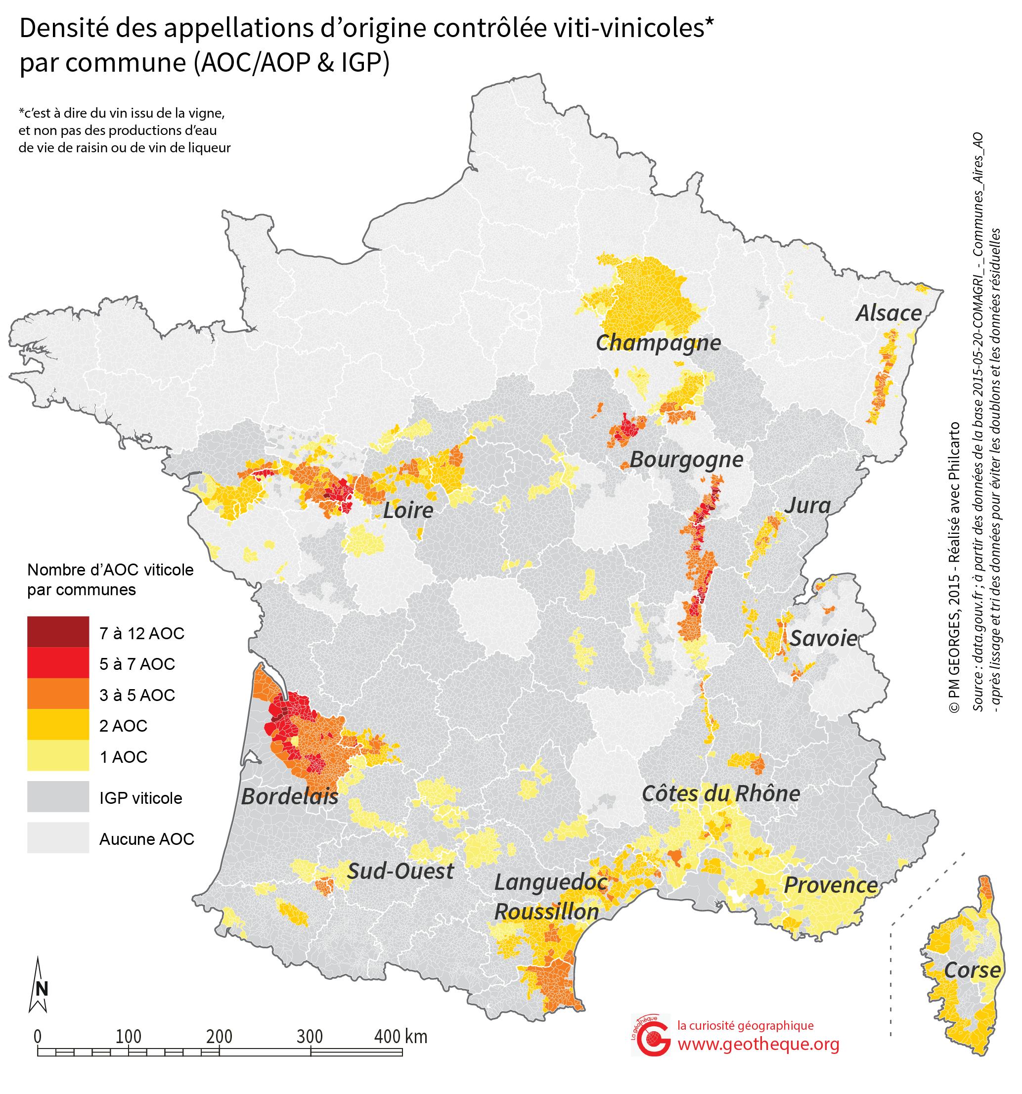 Des AOC à la carte cartographier les appellations d