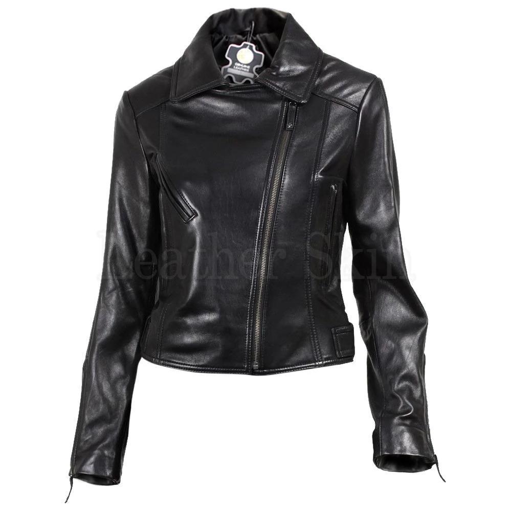 NWT Black Brando Women Ladies Trendy Premium Genuine Pure